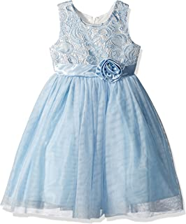 e6d8c376d Jayne Copeland Girls' Big Lace with Mesh Tulle Skirt