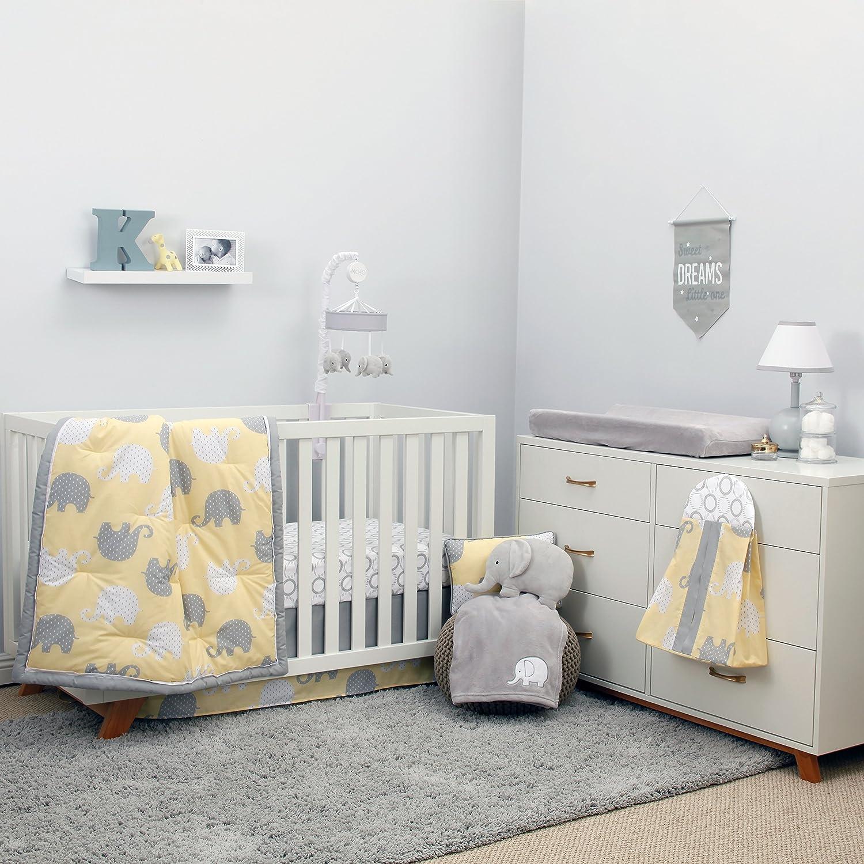 NoJo Dreamer - Yellow Grey Elephant 8 Piece Comforter Set