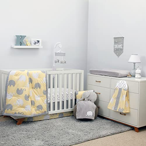 Baby nursery yellow grey gender neutral Nursery Ideas Nojo Dreamer Yellowgrey Elephant Piece Comforter Set Amazoncom Gender Neutral Baby Bedding Amazoncom