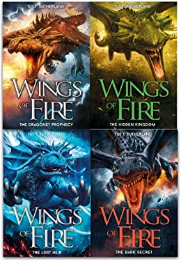 Wings of Fire Collection Tui T. Sutherland 4 Books Set (The lost heir, The hidden kingdom, The dragonet Prophecy, The Dark Secret)