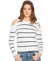 Eloisa Cold Shoulder Striped Sweater