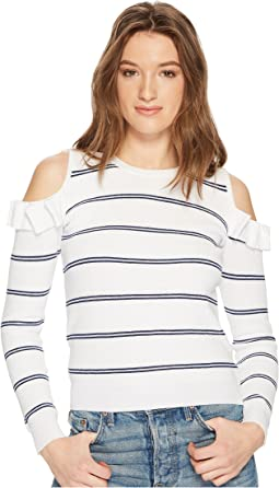 Jack by BB Dakota - Eloisa Cold Shoulder Striped Sweater