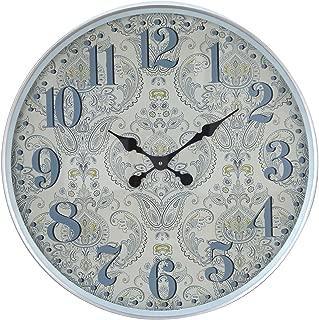 Deco 79 52591 挂钟,浅灰色/白色/黑色