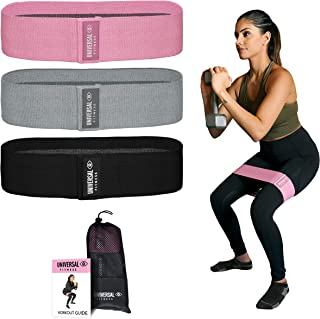 Booty Band: 3 Thick Fabric Non-Slip Resistance Bands for Legs and Butt Workout: Glute Activation Squat Bands Hip Thigh Strength Workout Band. Elastic Stretch Exercise Bands Set at Gym or Home Fitness
