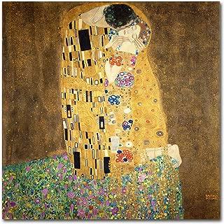 The Kiss, 1907-08 by Gustav Klimt, 35x35-Inch Canvas Wall Art