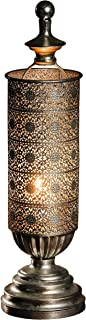 PierSurplus Metal Oriental-Style Table Candle Lantern - Mirage Antique Silver Candle Lantern Product SKU: CL221833