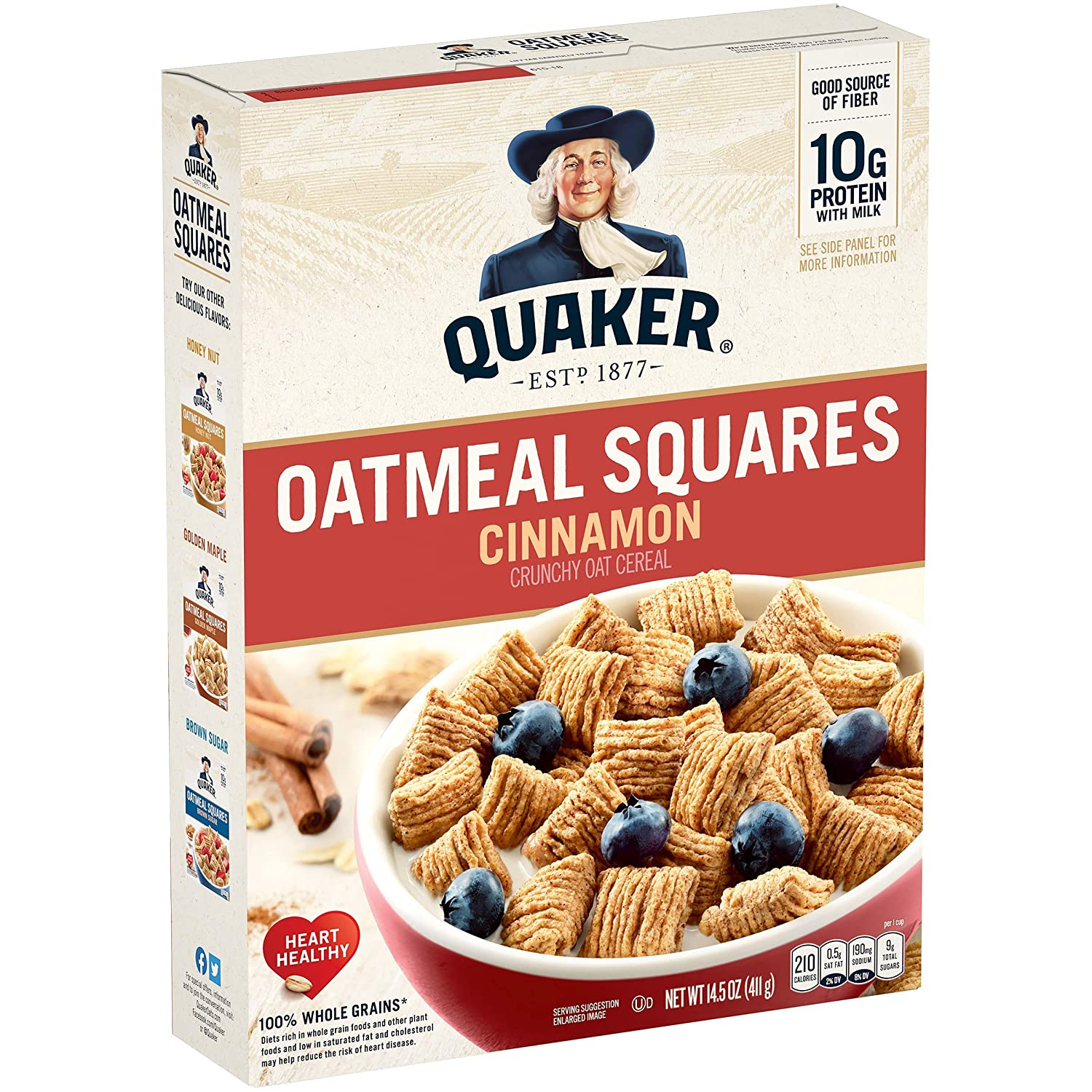 Quaker Oatmeal Breakfast Cereal Max 61% OFF Outlet sale feature Cinnamon Oz 14.5