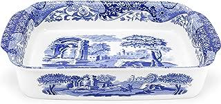 Spode Blue Italian Rectangle Handled Dish Large