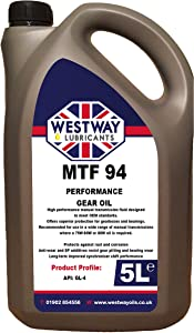 MTF Manual Transmission Oil Litres