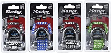Master Lock 1534D Password Plus Combination Padlock, 4-Pack, Color May Vary, 4 Count