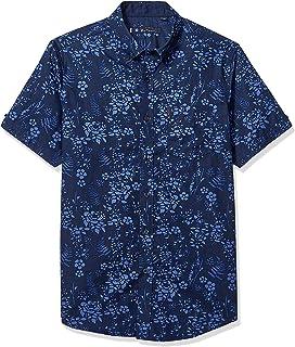 Ben Sherman Men's Ss Flrl Blue Shirt