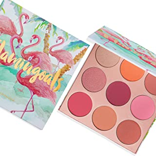 'Flamingoals' Blush Palette - 9 Shades of Reds and Pinks For All Skin Tones. Vegan And Clean Skin Care.