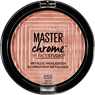 Maybelline New York Facestudio Master Chrome Metallic Highlighter Makeup, Molten Rose Gold, 0.24 oz.