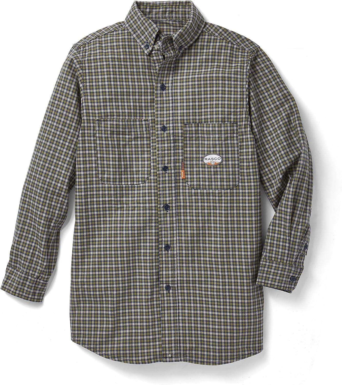Rasco FR Green Plaid Shirt