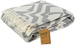 "Cozy Tulip | 100% Cotton Original Turkish Beach Towel (35"" x 67"") - Pre-Washed Peshtemal, Pool, Gym, Spa, Hammam, Bath Tow..."