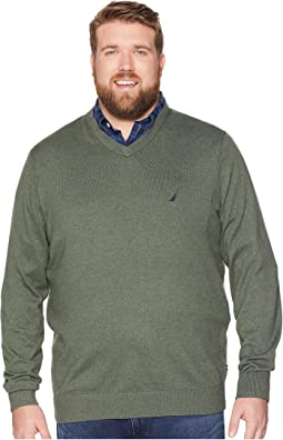 Big & Tall Jersey V-Neck Sweater