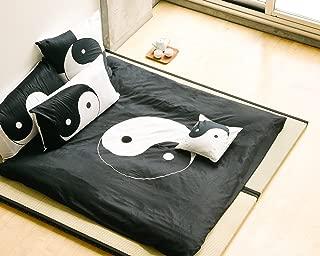 Full Queen black and white 3 piece Duvet Cover Set, coverlet comforter 88