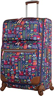 Luggage Large Expandable Design Pattern Suitcase With Spinner Wheels For Woman (28in, Geo Critter)