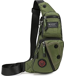 Sling Bag Chest Shoulder Backpack Fanny Pack Crossbody Bags for Men(Army green)