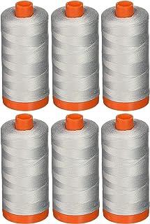 Aurifil A1050-2600 Mako Cotton Thread Solid 50WT 1422Yds Dove (6- Count)