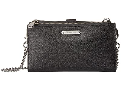 Rebecca Minkoff Bifold Wallet Crossbody (Black) Wallet Handbags