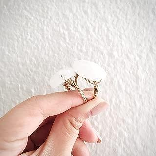 SunJewel gold precious oval stone ring