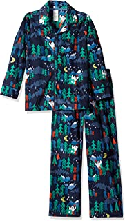 Gymboree Boys' Big 2-Piece Sleeve Long Bottoms Button Up Pajama Set