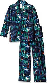 Boys' Big 2-Piece Sleeve Long Bottoms Button Up Pajama Set