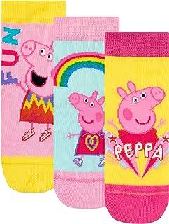 Peppa Pig, Calcetines Paquete de 3 para Niñas