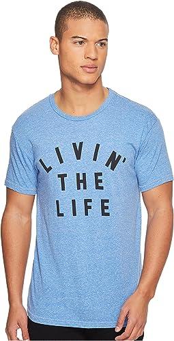 The Original Retro Brand - Livin' The Life Short Sleeve Tri-Blend Tee
