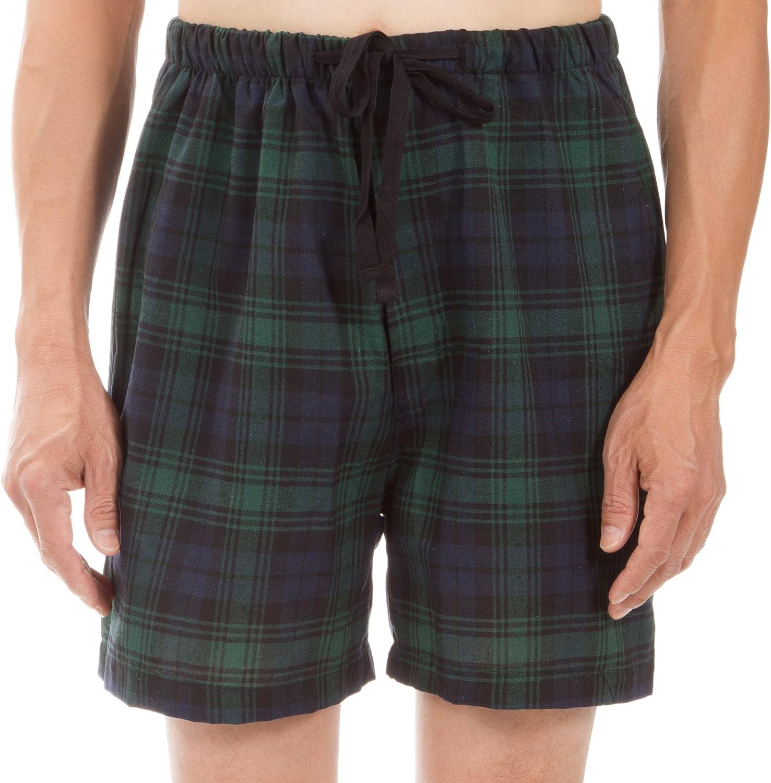 Leisureland Plaid Men's Woven Pajama Bottoms, Pajama Pants and Shorts