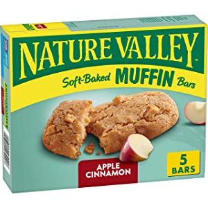 Nature Valley Soft-Baked Muffin Bars Apple Cinnamon, 6.2 oz, 5 ct
