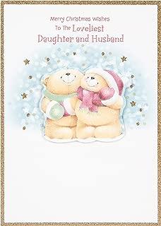 Hallmark Medium Daughter and Husband Cute Forever Friends 3D Bear Christmas Card