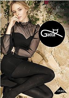 Gatta blickdichte Strumpfhose mit Muster 50den 861-112 - Strumpfhose schwarz mit Fantasiemuster - Designed & Made in EU