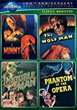 Classic Monsters Spotlight Collection: (The Mummy / The Wolf Man / The Invisible Man / Phantom of the Opera)