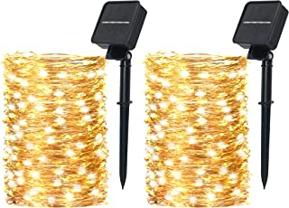 Orient P&E Outdoor Solar String Lights 2 Pack Each 200 LED 72 FT Bright Solar Lights Outdoor IP65 Waterproof Copper Wire 8...