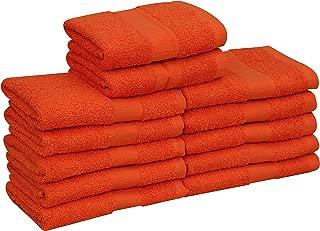 GOLD TEXTILES Cotton Salon Towels (12-Pack, Orange,16x27 inches) - Soft Absorbent Quick Dry Gym-Salon-Spa Hand Towel (Orange)