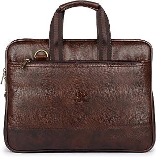The Clownfish Vegan Leather Laptop Briefcase, Laptop Case, Laptop Bag, Laptop Messenger Bag, Men and Women, Computer Bag, Laptop Shoulder Bag, Expandable Laptop Bag, Office Bag