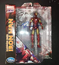 Robert Downey Jr and Stan Lee - Autographed Signed Marvel Diamond Select Iron man Figure Toy COA - MARKED DOWN