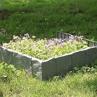 MultiWare Bordes de piedras para jardín, 10 piezas