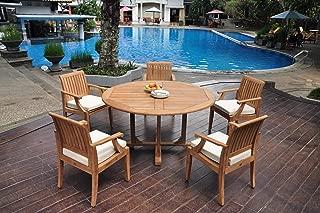 WholesaleTeakFurniture Grade-A Teak Wood 5 Seater 6 Pc Dining Set: 60