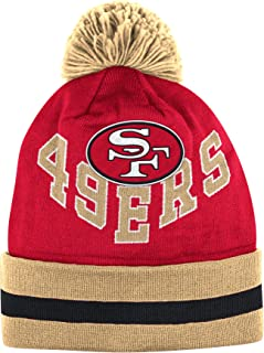 San Francisco 49ers Mitchell & Ness V Question Knit Hat with Pom
