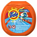 Tide PODS 3 in 1 HE Turbo Laundry Detergent Pacs, Ocean Mist Scent, 72 Count Tub