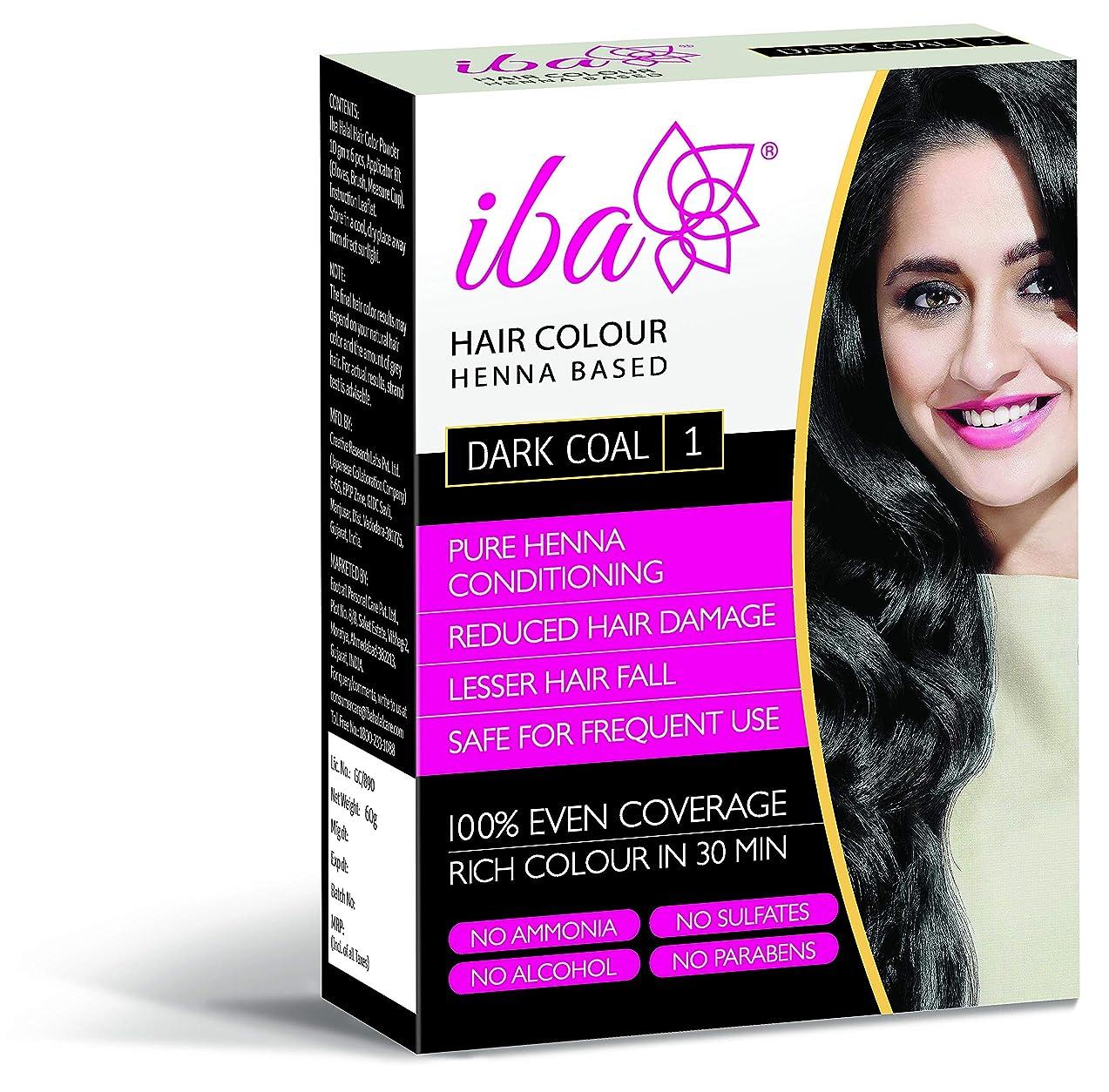 予見する直径ステージIba Halal Care Hair Colour, Dark Coal, 60g (Pack of 2)