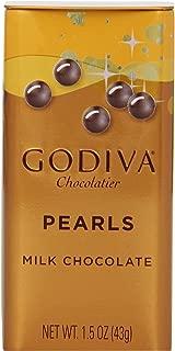 海外直送品 ゴディバ Godiva Milk Chocolate Pearls, 1.5-ounces (Pack of 6)
