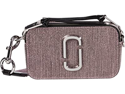 Marc Jacobs Snapshot Glitter Stripe Crossbody (Pink) Cross Body Handbags