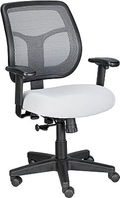 Eurotech Seating Apollo Midback Swivel Chair, Silver
