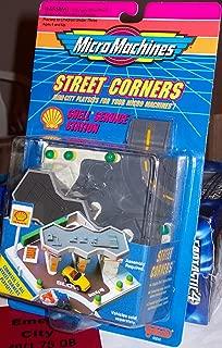 Micro Machines STREET CORNERS SHELL SERVICE STATION PLAYSET