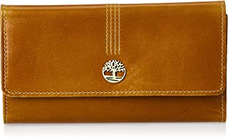 Timberland womens Leather Rfid Flap Wallet Cluth Organizer Brown Size: One Size
