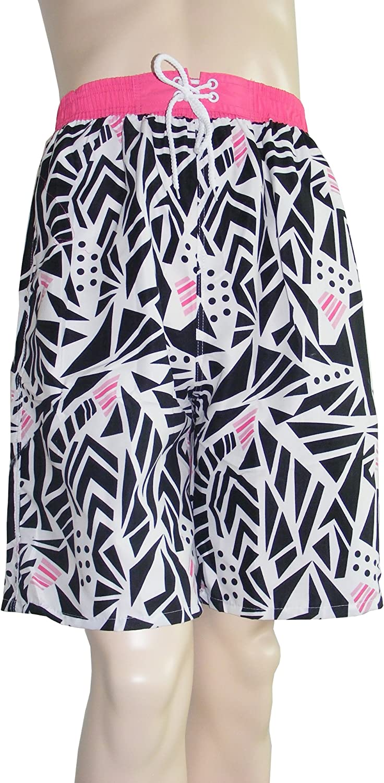 Colorfulworldstore Men Irregular geometry print summer beach Board swim Shorts Beach Sport Surf Swim shorts Trunks Pants (Men-XL, Irregular geometry print)